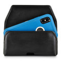 Turtleback Belt Case Designed for iPhone 11 Pro Max (2019) / XS Max (2018) Fits with OTTERBOX DEFENDER, Black Leather Holster Pouch with Heavy Duty Rotating Belt Clip, Horizontal Made in USA