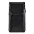 Turtleback Holster Designed for iPhone 11 Pro Max (2019) / XS Max (2018) Fits with OTTERBOX DEFENDER, Vertical Belt Case Black Leather Pouch with Executive Belt Clip, Made in USA