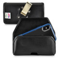 Turtleback Belt Case Designed for iPhone 11 Pro, XS & X Fits with OTTERBOX STATEMENT, Black Leather Holster Pouch with Heavy Duty Rotating Belt Clip, Horizontal Made in USA