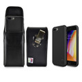 iPhone 8 Plus Phone Case and Vertical Holster with Metal Belt Clip Set, Black