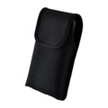 Kyocera DuraForce PRO 2 (6910 6900) Vertical Belt Case Holster Black Nylon Pouch with Heavy Duty Rotating Belt Clip