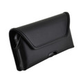 Kyocera DuraForce PRO 2 (6910 6900) Holster Belt Case Rotating Belt Clip, Black Leather Pouch Heavy Duty Horizontal