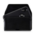 Turtleback Holster Designed for iPhone 11 (2019) & XR (2018) Fits with OTTERBOX DEFENDER, Black Leather Belt Case Pouch with Executive Belt Clip, Horizontal Made in USA