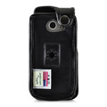 LG Exalt LTE VN220 4G Black Leather Case with Ratcheting, Removable Plastic Belt Clip