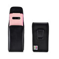 Galaxy S10+ Plus Fits with OTTERBOX COMMUTER Vertical Belt Case Black Leather Pouch Executive Belt Clip