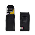 Galaxy S10 Fits with OTTERBOX SYMMETRY Vertical Belt Case Black Leather Pouch Executive Belt Clip