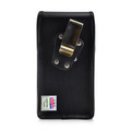 Samsung Galaxy Note 10+ Plus Vertical Holster Black Leather Pouch with Heavy Duty Rotating Belt Clip