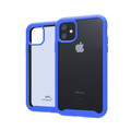 Tough Defense Drop Tested Case for Apple iPhone 11 6.1 Inch, Military Grade, Anti-Scratch Ultra Clear Back & Blue Sides