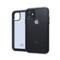 Tough Defense Combo for iPhone 11, Black/Clear Drop Test Case + Horizontal Pouch, Metal Clip