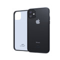 Hybrid Case Combo for iPhone 11 6.1, Clear/Black Case + Horizontal Leather Pouch and Clip