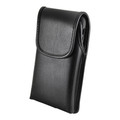 Hybrid Case Combo for iPhone XR 6.1, Clear/Black Case + Vertical Leather Pouch and Clip