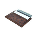 Thin Front Pocket Wallet RFID Blocking for OSTRICH Print Leather