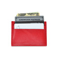 Thin Front Pocket Wallet RFID Blocking Red Leather