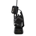 Tait TP9400 P25 Duty Belt Case Holster Fits STANDARD AND EXTENDED BATTERY Black Leather Metal Belt Clip
