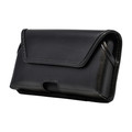 Galaxy S20 Belt Holster Black Leather Pouch Rotating Belt Clip Horizontal