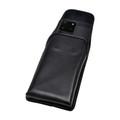 Galaxy S20 Ultra Vertical Belt Case Black Leather Pouch Executive Belt Clip