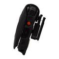 Kyocera DuraXV Extreme Flip Phone FITTED CASE Black Leather Plastic Ratcheting Removable Belt Clip