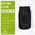 LG A380 Heavy Duty Nylon Phone Case with Rotating Metal Belt Clip