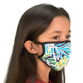 Child's Face Mask Tropical Design Washable Reusable, Cotton Pocket, 2 Ply, Nose Seal, Adjustable Ear Loops (set of 2)