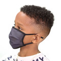 Kid's Face Mask Charcoal Design Washable Reusable, Cotton Pocket, 2 Ply, Nose Seal, Adjustable Ear Loops (set of 2)