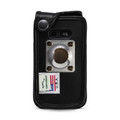 LG Wine 2 LTE Black Leather Fitted Case with Heavy Duty Rotating Metal Belt Clip
