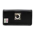 Motorola Lex L11 Belt Holster Black Leather Pouch with Heavy Duty Rotating Belt Clip, Horizontal