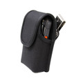Kyocera DuraXV Extreme Holster Black Nylon Pouch with Heavy Duty Rotating Belt Clip
