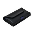 iPhone 12 & 12 Pro Belt Case Horizontal Holster Black Leather Pouch Heavy Duty Rotating Clip