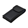 iPhone 12 & 12 Pro, Black Vertical Belt Holster With Leather Pouch & Executive Belt Clip