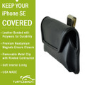 iPhone 5/5S/SE Horizontal Leather Rotating Clip Holster