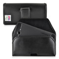 6.87 X 3.75 X 0.87in - Leather Horizontal Holster, Black Belt Clip