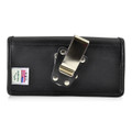 6.49 X 3.53 X.0.62in - Leather Horizontal Holster, Metal Belt Clip