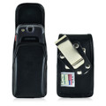Samsung Convoy 3 U680 Vertical Black Leather Holster, Metal Belt Clip