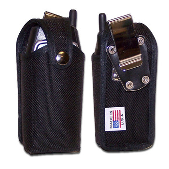 5.10 x 2.40 X 1.40in - Nylon Pouch Flip Phone Case with Metal Clip