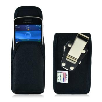 Blackberry Q10 9900 9600 Nylon Holster, Metal Belt Clip