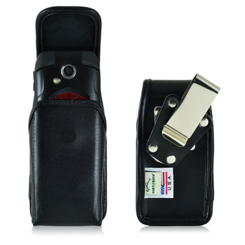 Kyocera Flip Phone Universal Leather Holster Case, Metal Clip