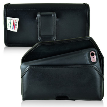 PhoneSuit Elite 6 Holster Black Belt Clip Case Pouch Leather Turtleback