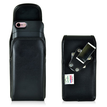 PhoneSuit Elite 6 Holster Metal Belt Clip Case Pouch Leather Vertical Turtleback