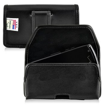Kyocera Brigadier E6782 Holster Black Belt Clip Case Pouch Leather