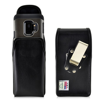 Galaxy S9 & S8 Leather Vertical Holster Case Metal Belt Clip