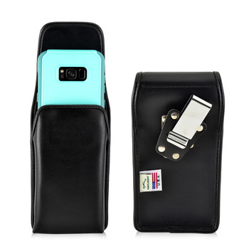 Galaxy S8 Plus Holster Metal Belt Clip Otterbox Commuter  Leather Vertical
