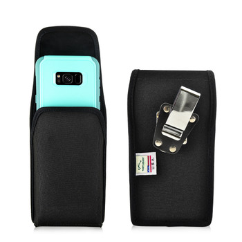 Galaxy S8 Plus Holster Metal belt Clip Fits with OTTERBOX Commuter Nylon Vertical