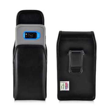 Galaxy S8 Plus Holster Black Belt Clip Otterbox Defender Leather Vertical