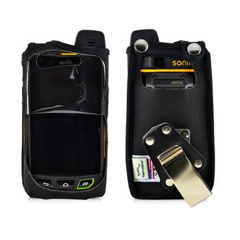 Sonim XP7 Koamtac Scanner Black Nylon Fitted Case Rotating Removable Metal Belt Clip By Turtleback