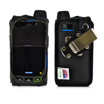 Sonim XP7 IS Black Nylon Fitted Case Rotating Removable Metal Belt Clip By Turtleback
