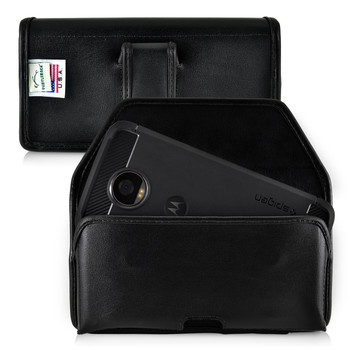 Motorola Moto Z2 Play Holster Black Belt Clip Case Pouch Leather