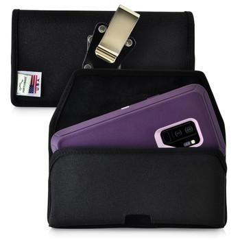 Galaxy S9 Plus Belt Clip Case for Otterbox DEFENDER Case Rotating Belt Clip Black Nylon Pouch