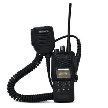Kenwood NX5200 NEXEDGE D Ring Carry Holder Case Radio Black Leather Duty Holster D Rings - NX-5200/5300/5400 Series