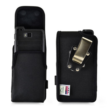 Sonim XP8 Holster Pouch, Vertical Nylon Case with Rotating Belt Clip & Magnetic Closure
