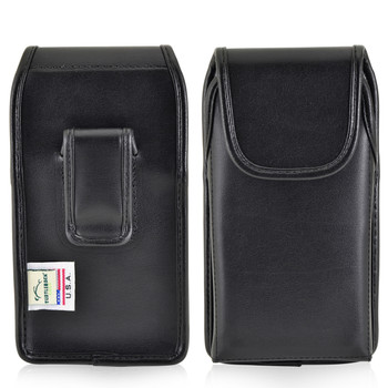 Kyocera DuraForce PRO Holster Black Clip Case Pouch Leather Vertical Turtleback